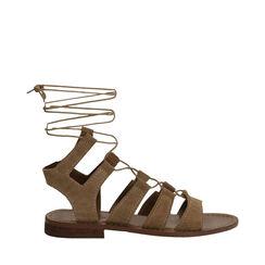 Sandales en daim taupe, Primadonna, 178100348CMTAUP035, 001a