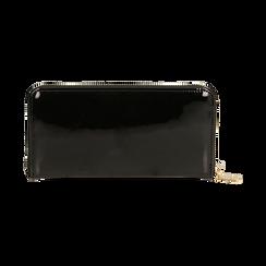 Portafogli nero in vernice, Borse, 155122519VENEROUNI, 004 preview
