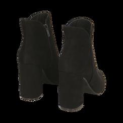 Ankle boots neri in microfibra, tacco 9 cm , Primadonna, 162709165MFNERO037, 004 preview