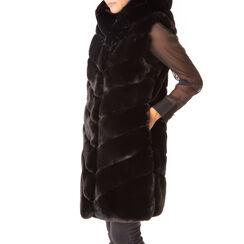 Gilet éco-fourrure noir, Primadonna, 18B420543FUNEROM, 001a