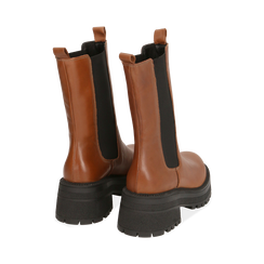 Chelsea boots marroni in pelle di vitello , Primadonna, 168915835VIMARR035, 004 preview
