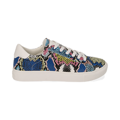 Sneakers nero/blu stampa pitone, Scarpe, 152607101PTNEBL, 001 preview
