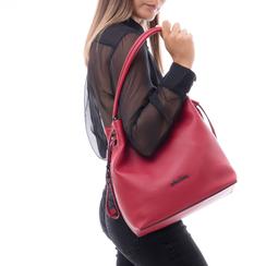 Secchiello rosso in eco-pelle, Borse, 14D207865EPROSSUNI, 002 preview