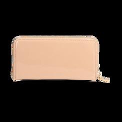 Portafogli nude in vernice, Borse, 155122519VENUDEUNI, 004 preview