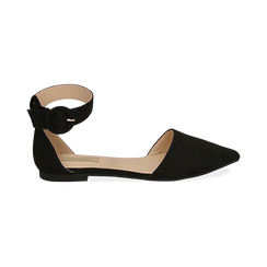 Bailarinas de microfibra en color negro, Primadonna, 154841142MFNERO036, 001 preview