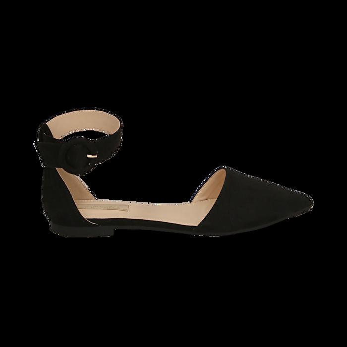 Bailarinas de microfibra en color negro, Primadonna, 154841142MFNERO036