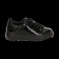Sneakers noires en vernis, Primadonna, 162602011VENERO035, 001 preview