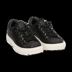 Sneakers nere glitter, Primadonna, 162600308GLNERO035, 002 preview