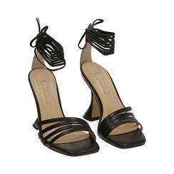 Sandali neri, tacco 10 cm , Primadonna, 172116411EPNERO036, 002 preview