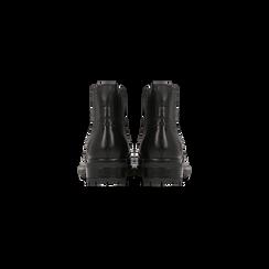 Chelsea Boots eleganti in vera pelle nera, Scarpe, 127710620PENERO, 003 preview