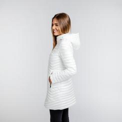 Piumino Bianco Donna Lungo con Cappuccio, Abbigliamento, 128500502TSBIAN, 003 preview