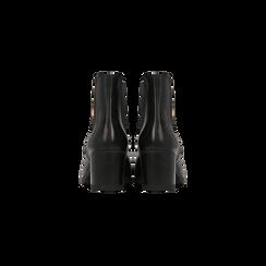 Chelsea Boots neri in vera pelle, tacco medio 6 cm, Primadonna, 127711422PENERO, 003 preview