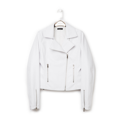 Biker jacket bianca in eco-pelle, Primadonna, 136501161EPBIAN, 001 preview