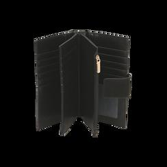 Portefeuille noir en microfibre , Sacs, 155122158MFNEROUNI, 003 preview