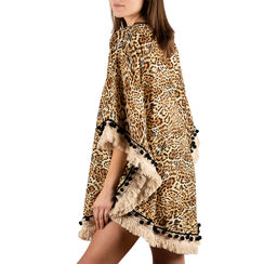 Caftan leopard en tissu , Primadonna, 150500113TSLEOPUNI, 002a