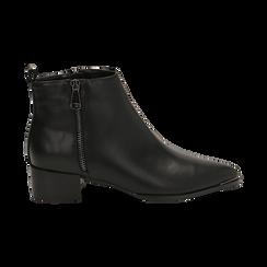 Camperos neri in eco-pelle , tacco 4,5 cm , Stivaletti, 144820534EPNERO036, 001 preview