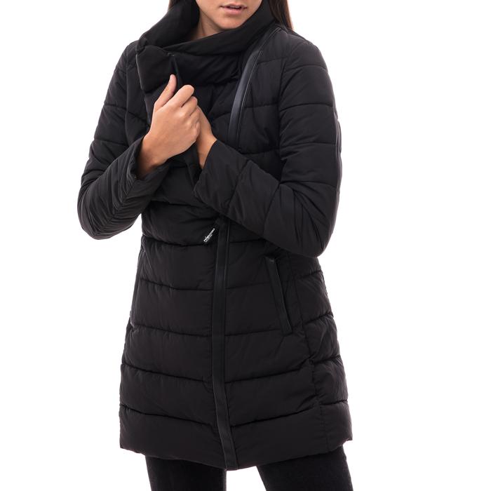 Piumino nero in nylon con chiusura asimmetrica, Abbigliamento, 146501208NYNEROXXL