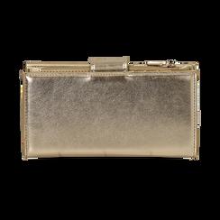 Portefeuille doré en simili-cuir brillant, Sacs, 155122158LMOROGUNI, 004 preview
