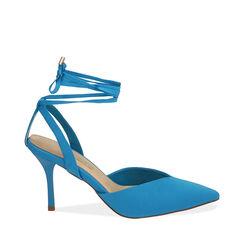 Destalonado azul satinado, tacón 8 cm, Primadonna, 172106281LYTURC036, 001a