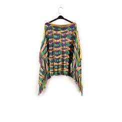 Poncho verde retinato, Vêtements, 15B402904TSVERDUNI, 003 preview