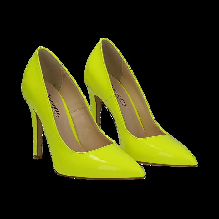 472dc1066e66 ... Décolleté fluo gialle in vernice, Scarpe, 13A407027VEGIAL035, ...