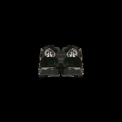 Sneakers nere velluto e dettagli metal, Scarpe, 120127903VLNERO, 003 preview