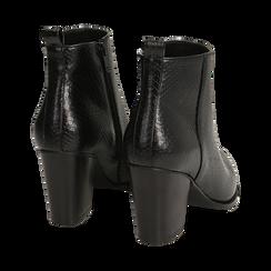 Ankle boots neri stampa vipera, tacco 8,50 cm , Primadonna, 160585965EVNERO035, 004 preview