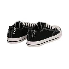 Sneakers nere in canvas, Scarpe, 137300862CANERO035, 004 preview