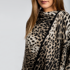 Poncho leopard, Saldi, 12B409676TSLEOP3XL, 004