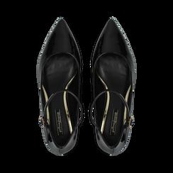 Décolleté nere kitten heels in vernice, tacco 3 cm, Primadonna, 124951721VENERO037, 004 preview