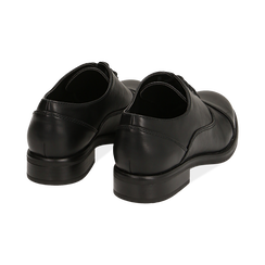 Stringate nere, tacco 4 cm, Primadonna, 160621674EPNERO037, 004 preview