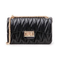 Mini-bag nera in pvc, Primadonna, 137409999PVNEROUNI, 001 preview