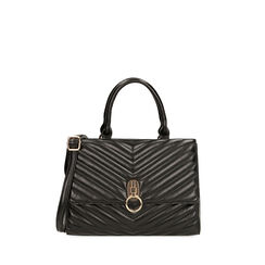 Bolsa de mano matelassé negra, Primadonna, 161012886EPNEROUNI, 001a