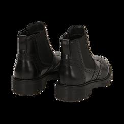 Chelsea boots en cuir noir, Promozioni, 167723704PENERO036, 004 preview