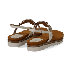 Sandali infradito bianchi in eco-pelle con suola bianca, Primadonna, 134922304EPBIAN035, 004 preview
