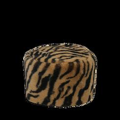 Colbacco tigrato in eco-fur, 14B443018FUTIGRUNI, 001a