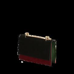 Borsa piccola nera in microfibra, Primadonna, 165123006MFNEROUNI, 002a
