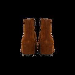 Tronchetti cuoio a punta, con tacco medio 4,5 cm, Primadonna, 127242325CMCUOI, 003 preview