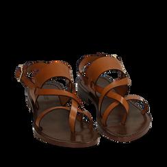 Sandales en cuir de vachette, Primadonna, 15D620005VACUOI036, 002a