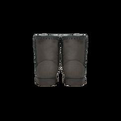 Scarponcini invernali scamosciati grigi , Scarpe, 125001041MFGRIG036, 003 preview