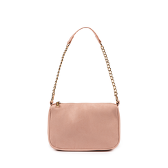 Petit sac porté épaule nude en microfibre, Primadonna, 155127201MFNUDEUNI, 001a