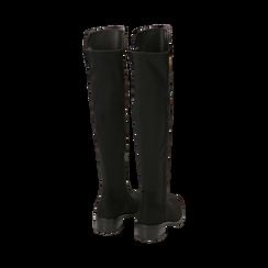 Stivali overknee neri in microfibra, tacco 4 cm , Primadonna, 163025001MFNERO037, 003 preview
