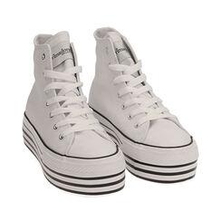 Sneakers blancas de lona, Primadonna, 172642103CABIAN035, 002a