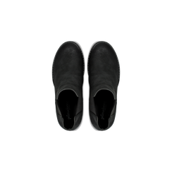 Chelsea Boots neri in nabuk, tacco medio 7 cm, Primadonna, 120800819NBNERO037, 004 preview