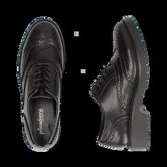 Stringate nere in eco-pelle con lavorazione Duilio, Scarpe, 140585751EPNERO035, 003 preview