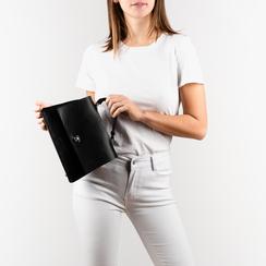 Mini bag en eco-piel color negro, Bolsos, 155700372EPNEROUNI, 002a