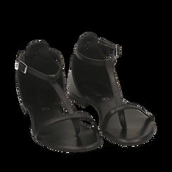 Sandali neri in pelle, Primadonna, 15K904738PENERO036, 002a