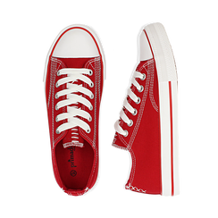 Sneakers rosse in canvas, Scarpe, 137300862CAROSS036, 003 preview