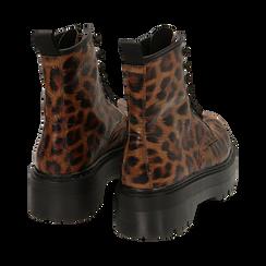 Botas militares con estampado de leopardo, Primadonna, 162800001EPLEMA036, 004 preview