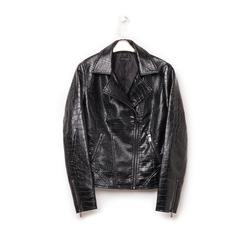 Biker jacket nera in eco-pelle effetto snake, Abbigliamento, 146582591EVNERO3XL, 003 preview